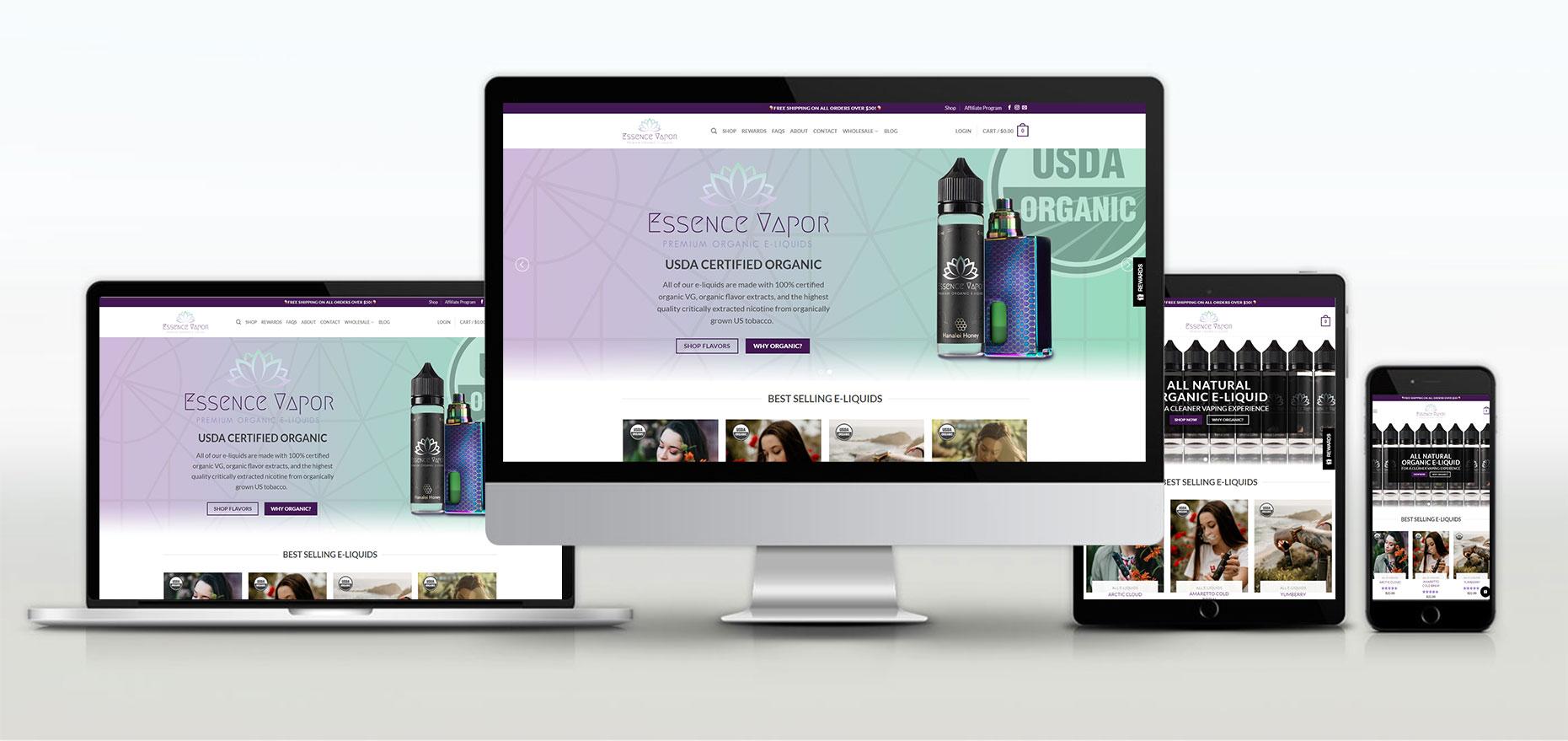 Essence Vapor | Web Design Portfolio