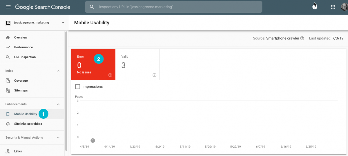 Mobile Usability Report Page